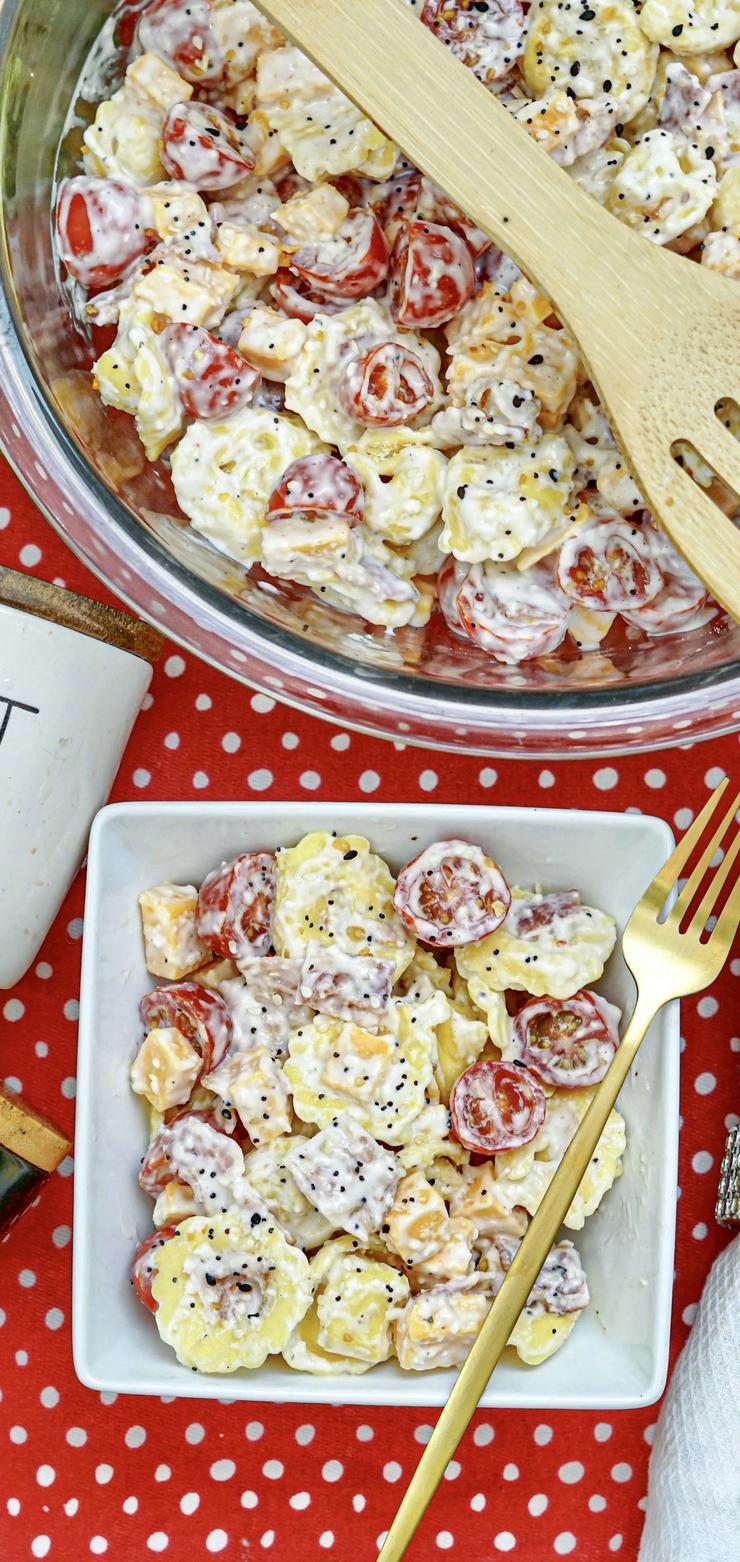 Bacon Cheddar Ranch Tortellini Salad