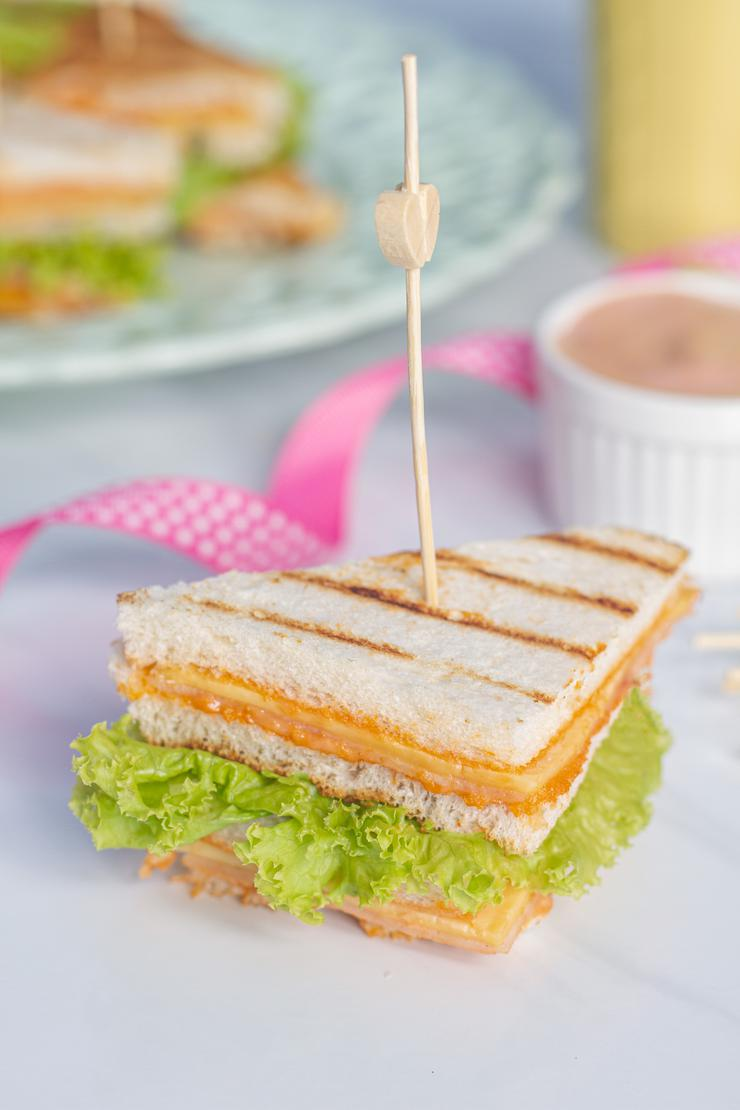 Mini Grilled Cheese Sandwich Party Food