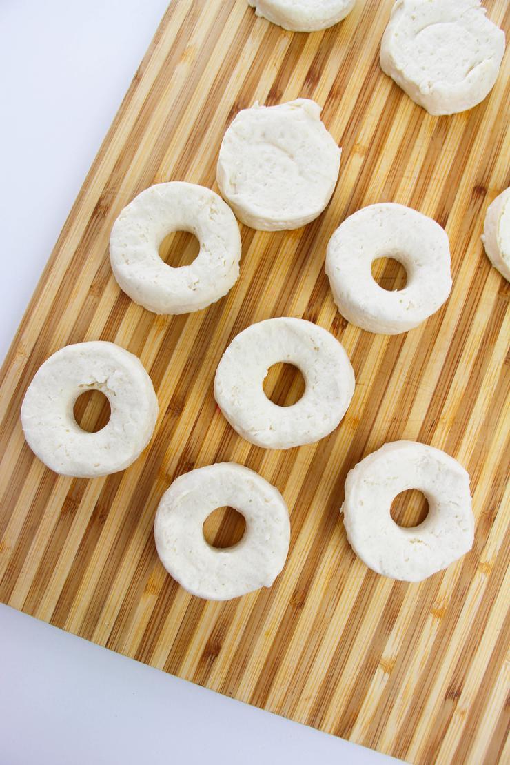 Vanilla Glazed Biscuit Donuts